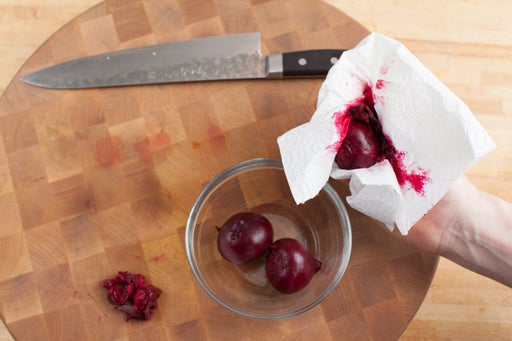Cook & peel the beets: