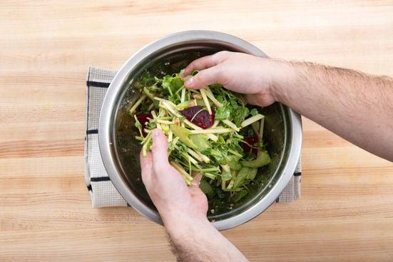 Assemble & dress the salad: