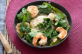 Shrimp & Mustard Green Laing with Jasmine Rice