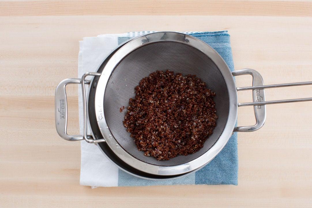 Cook the quinoa: