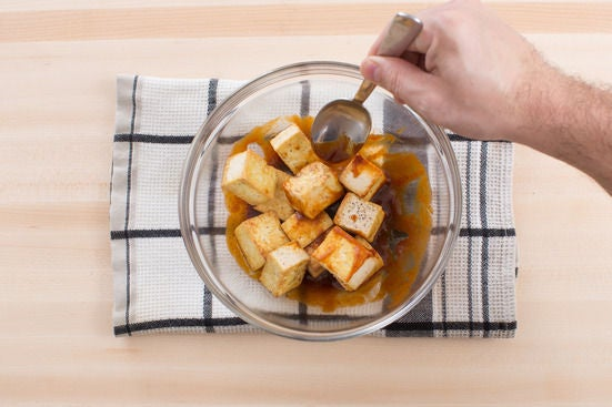 Cook & dress the tofu: