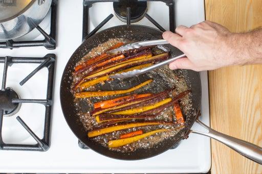 Glaze the carrots: