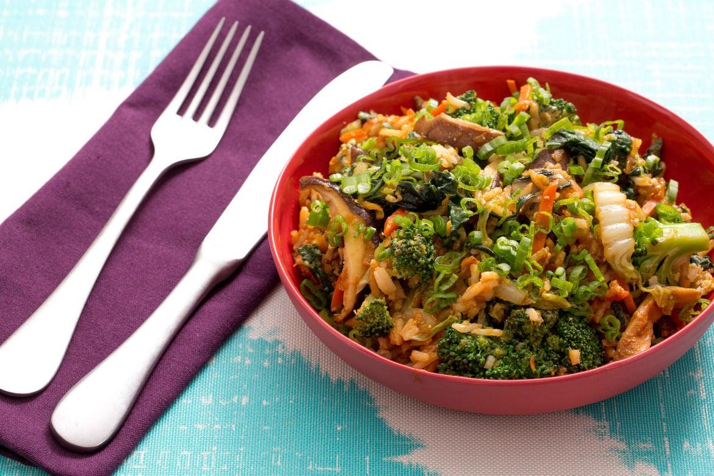 ... Chard Fried Rice with Sweet Potato & Shiitake Mushrooms - Blue Apron