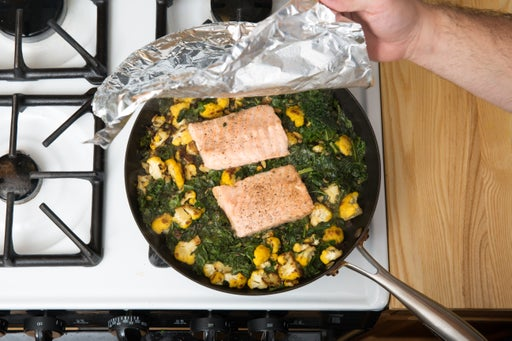 Braise the salmon: