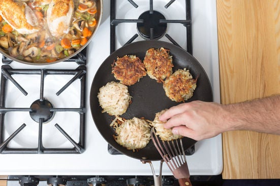 Cook the latkes: