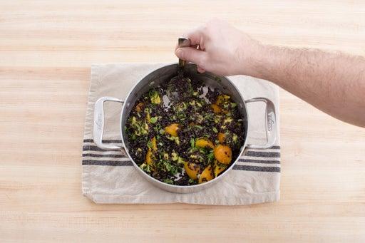 Make the rice salad: