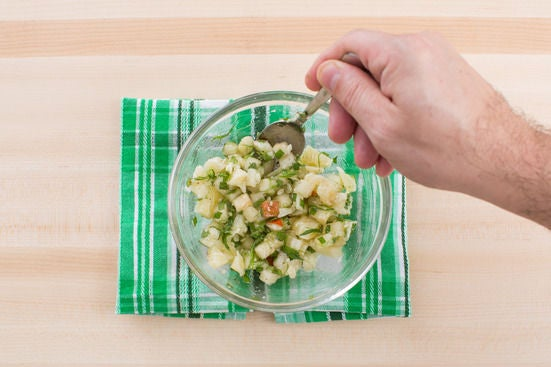 Make the relish & plate your dish: