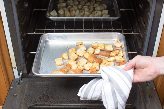 Make the croutons: