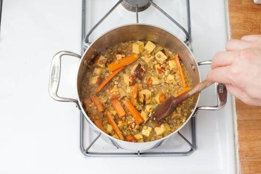 Add the liquids, seasonings & paneer:
