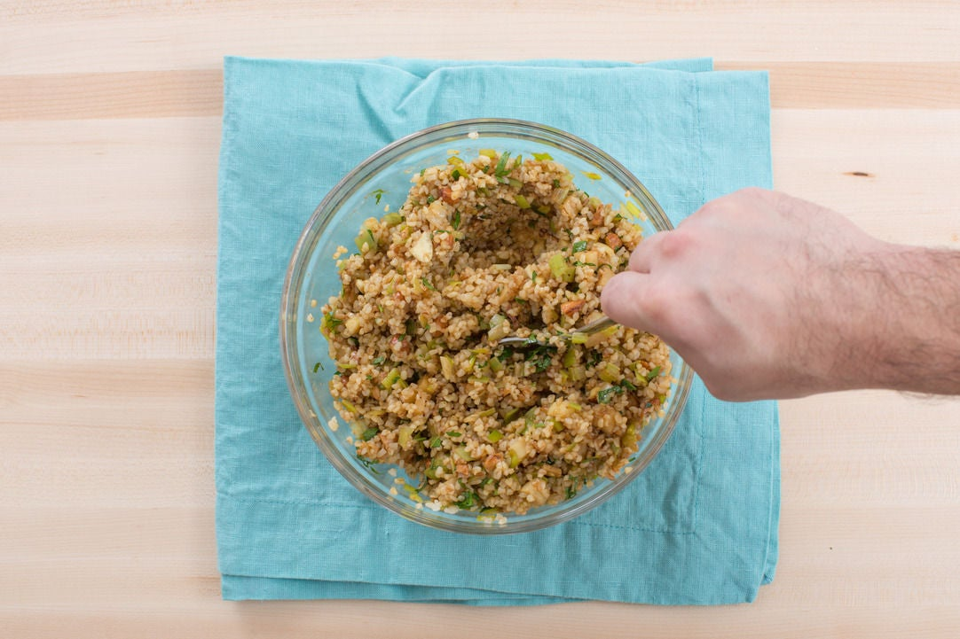 Finish the bulgur: