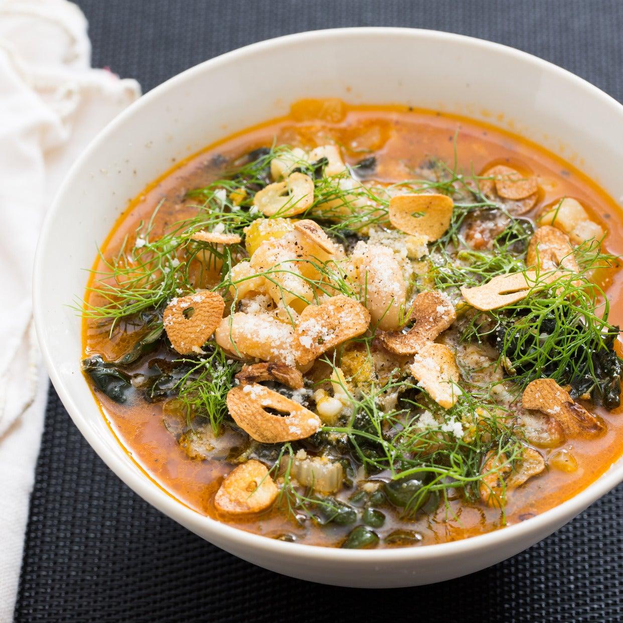 Pasta e Fagioli with Cannelini Beans & Tuscan Kale