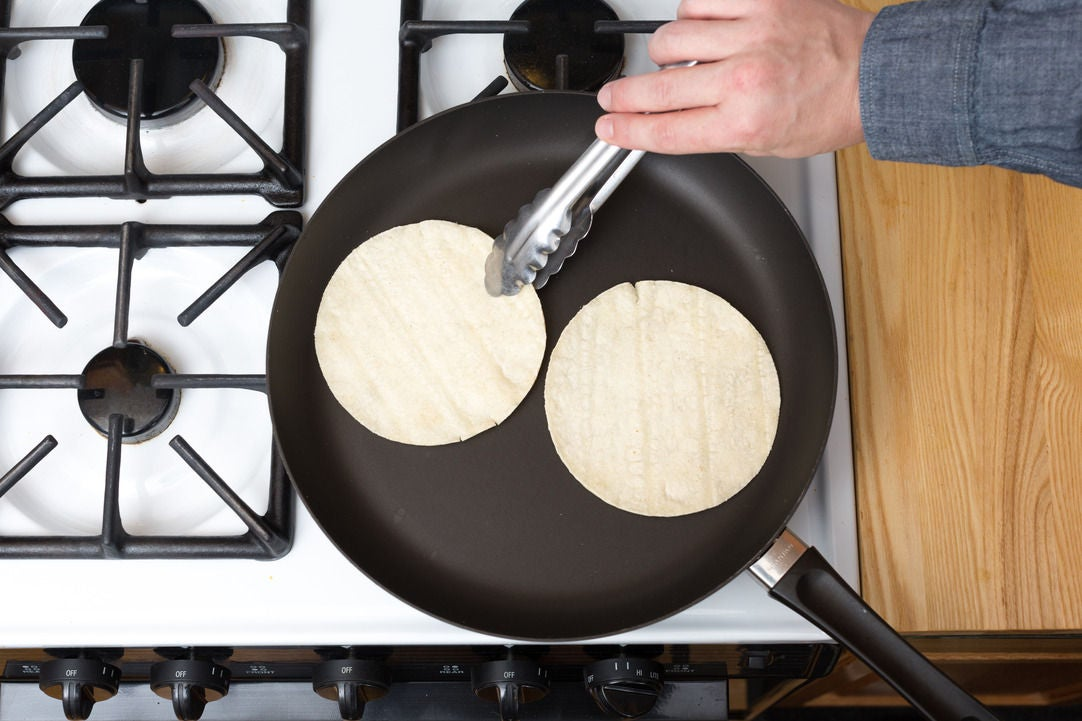 Warm the tortillas & plate your dish: