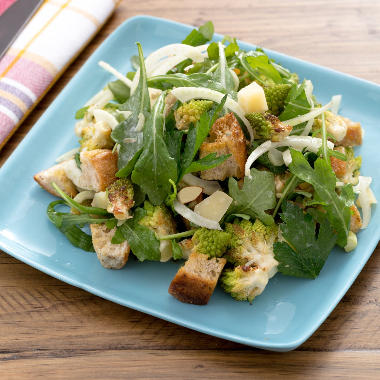Roasted Cauliflower Panzanella with Fennel, Piave Cheese & Sliced Almonds