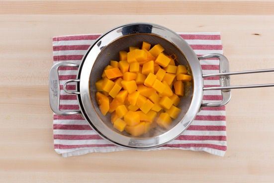Cook the butternut squash: