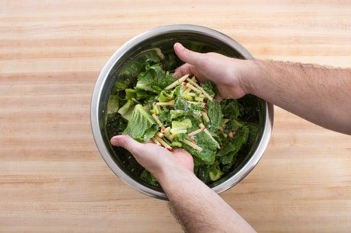 Assemble the salad & serve your dish: