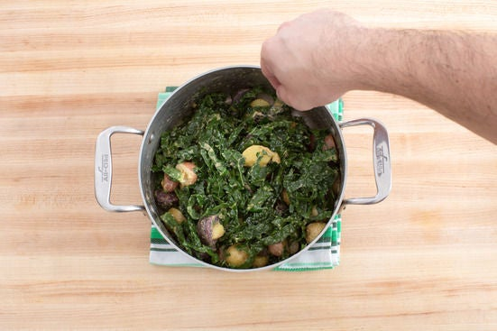 Make the potato & kale salad:
