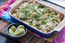 Black Bean & Red Quinoa Enchiladas with Salsa Verde