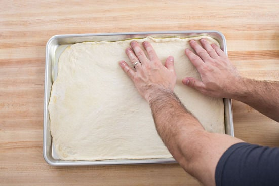 Prepare the pizza dough: