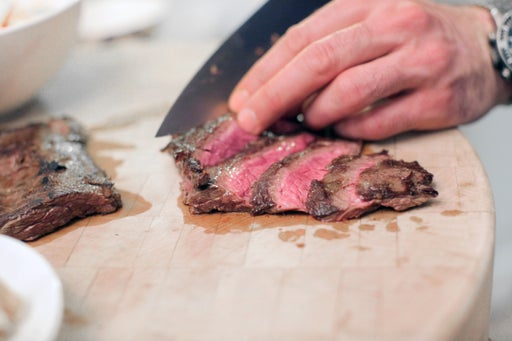 Slice the steak & enjoy: