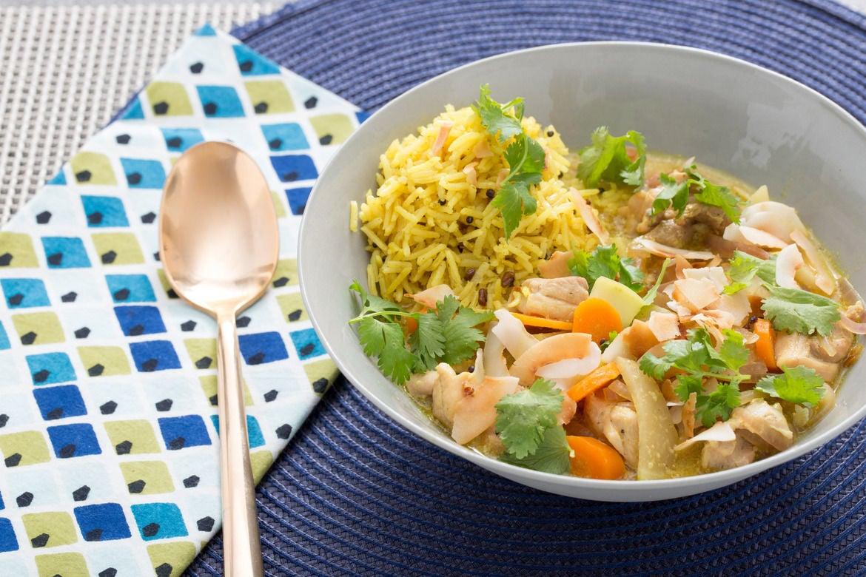 Blue apron zester - Chicken Mulligatawny Soup With Kohlrabi Basmati Rice