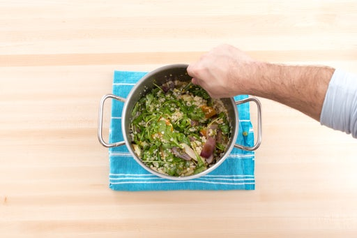 Cook & finish the Israeli couscous: