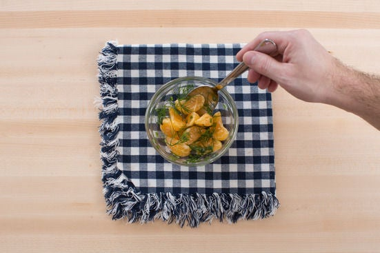 Make the clementine salad & plate your dish: