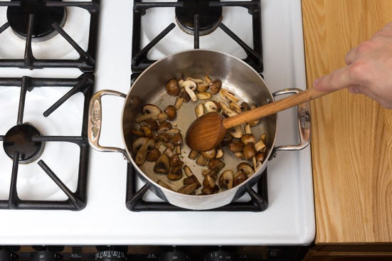 Cook the cremini mushrooms: