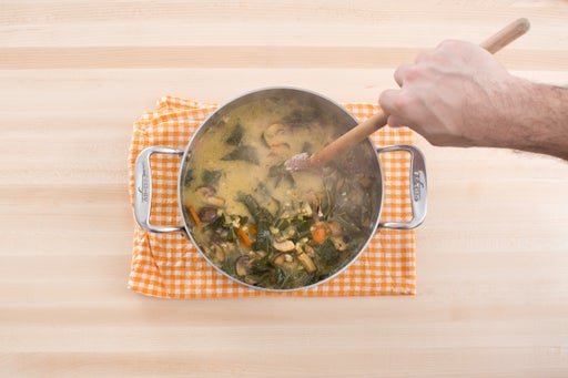 Finish the soup: