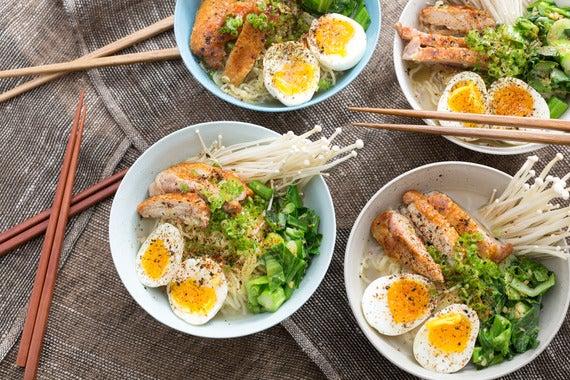 blue recipe apron ramen Apron Miso Ramen with Choy  Boiled Soft Blue & Eggs  Sum, Broth