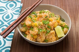 Shrimp & Pineapple Fried Rice with Toasted Cashews & Sambal Oelek