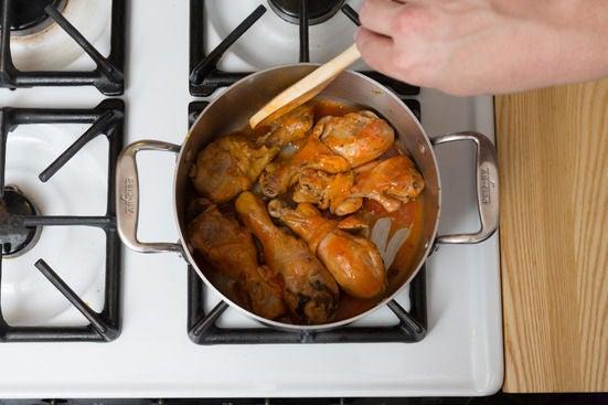 Finish the chicken: