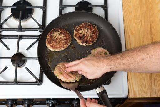 Make the burgers: