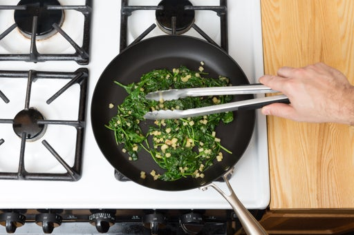 Cook the spinach:
