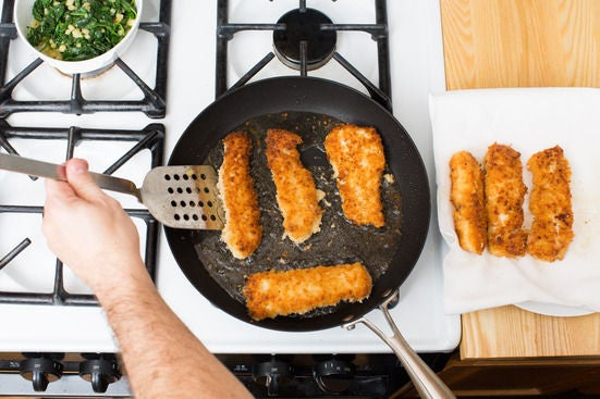 Cook the fish & serve your dish: