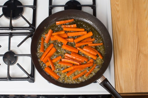 Glaze the carrots: