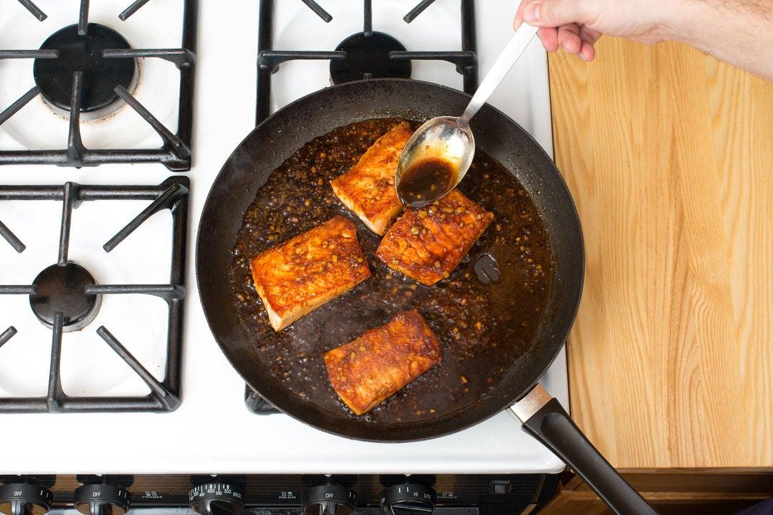 Make the sauce & serve your dish: