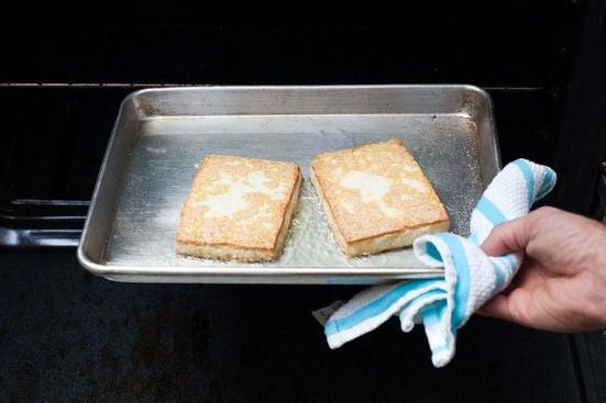 Bake the tofu: