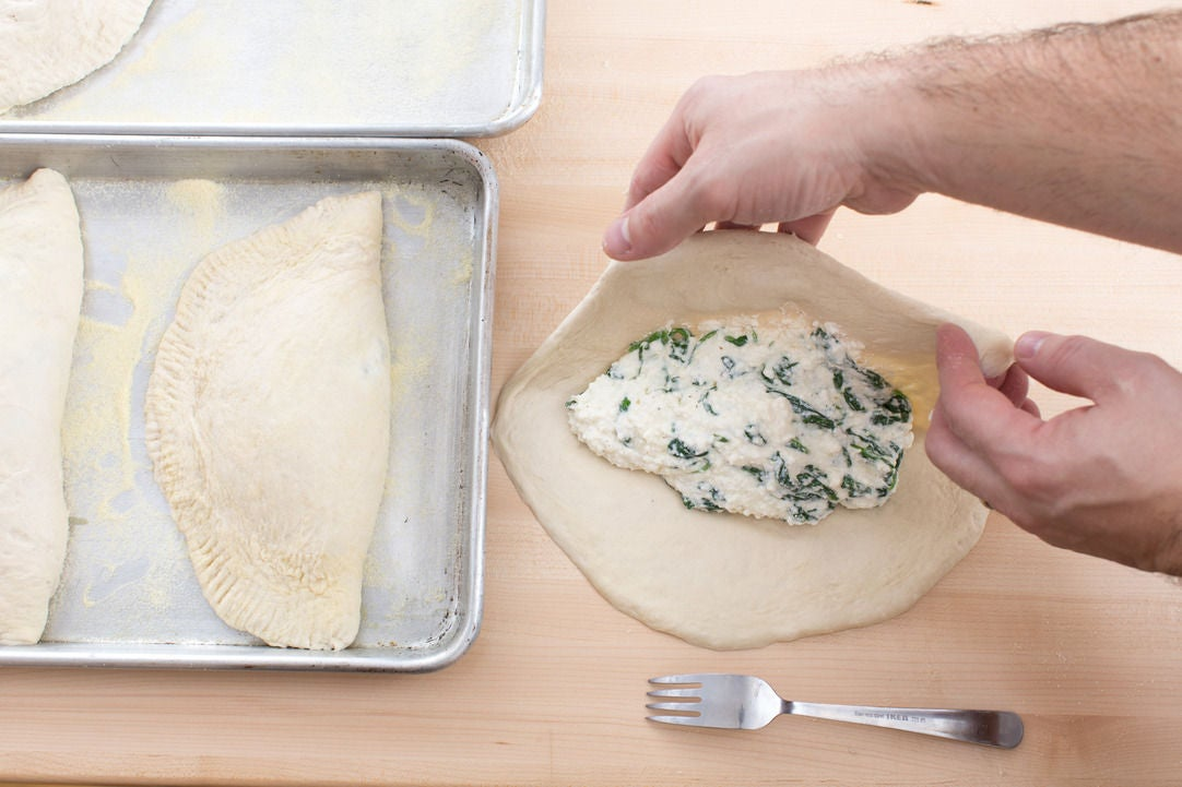 Assemble & bake the calzones: