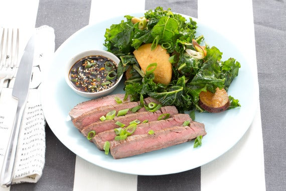 Recipe: Steak & Miso-Roasted Vegetable Salad with Ponzu Dipping Sauce ...