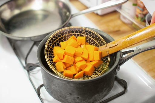 Cook the sweet potato: