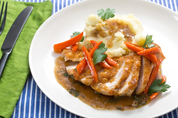 Recipe: Seared Chicken & Mashed Potatoes with Maple-Glazed Carrots ...