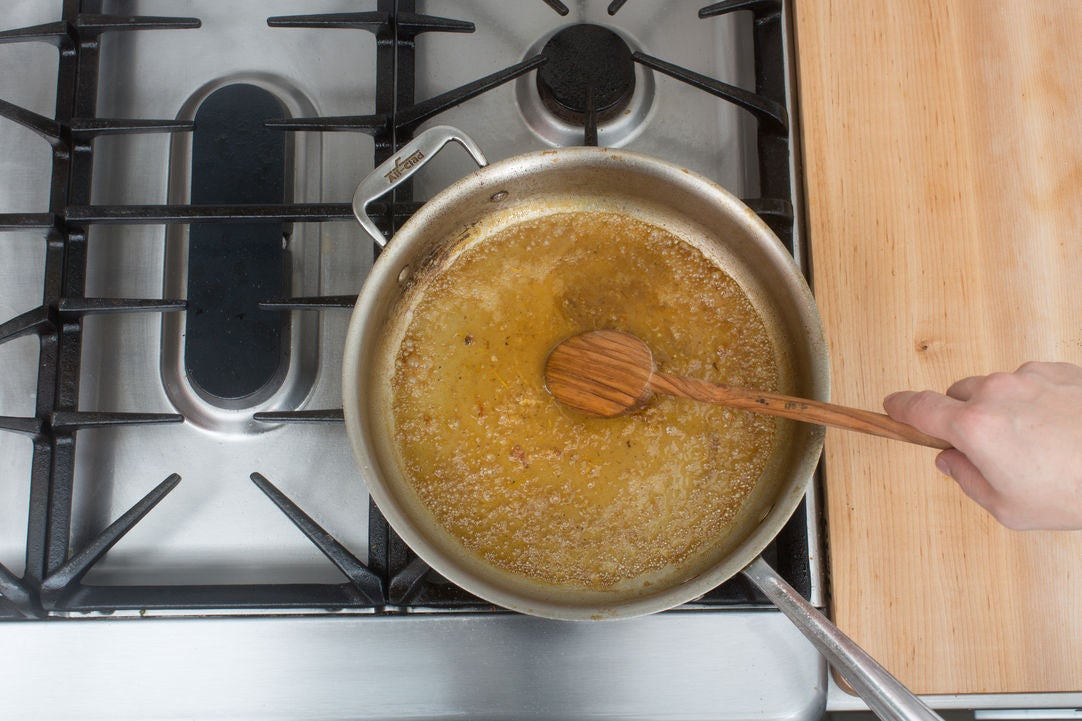 Make the pan sauce: