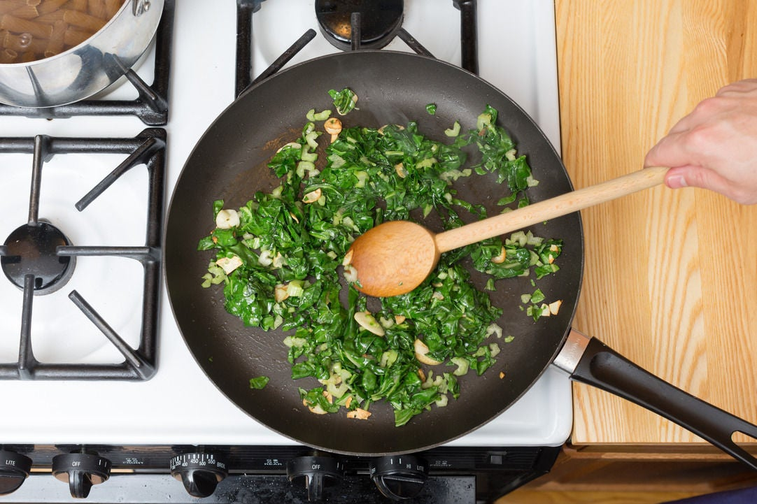 Cook the Swiss chard: