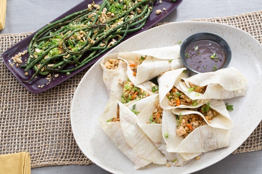 Moo Shu Vegetables with Chinese Long Beans & Plum Sauce