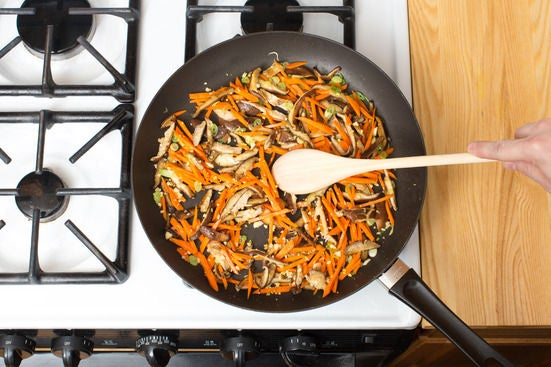 Start the moo shu vegetables: