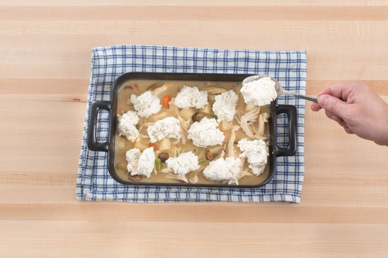 Finish the pot pie & serve your dish: