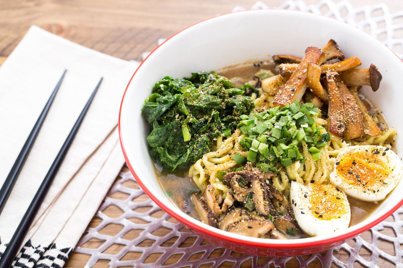 recipe ramen umami Mushroom Recipe: Soft Boiled with Mustard Winter Ramen Greens Eggs &