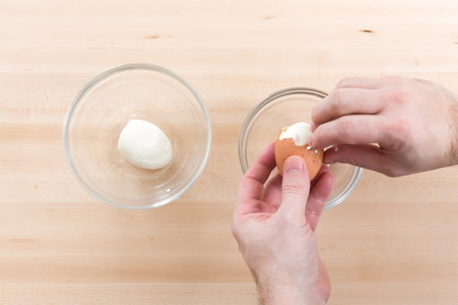 Soft-boil the eggs: