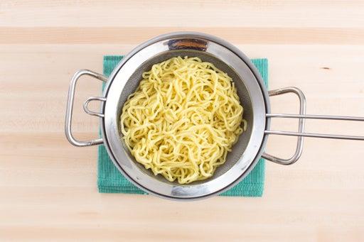 Cook the ramen noodles: