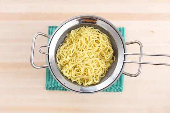 Cook the ramen noodles: